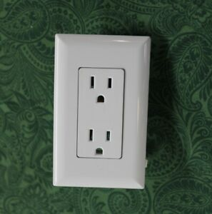 Mobile Home Parts Self Contained Duplex Decorator Receptacle Outlet White Ebay