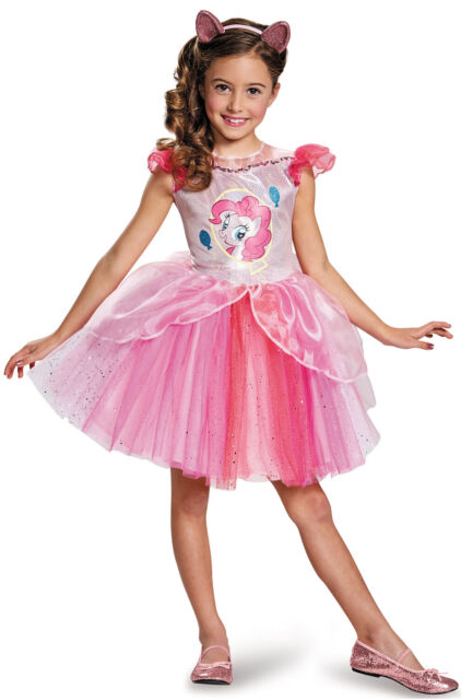 Girls Deluxe Pinkie Pie My Little Pony Book Day Fancy Dress Costume Outfit 3-6yr