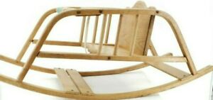 Vintage-Delphos-Bending-Company-Wood-Baby-Child-Rocking-Chair-1950s