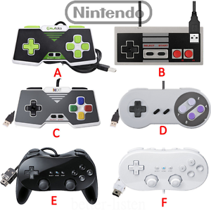 Classic-Pro-Gamepad-SNES-NES-USB-Controller-For-PC-Mac-amp-Wii-Wii-U