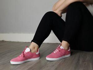 NUOVO-Donna-Superdry-Junior-039-s-adidas-Originals-Gazelle-Rosa-in-Pelle-Scamosciata-Scarpe-Da
