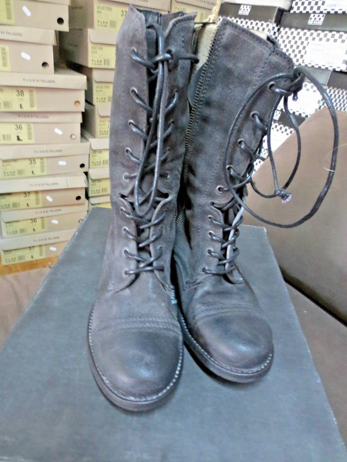 Koah Stiefel Wildleder schwarz vintage neu Wert 179e Größe 39