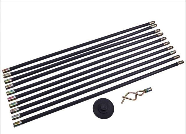 "12 Piece Drain Rod Set Includes 4/"" 100mm Rubber Plunger /& 50mm Worm Screw"
