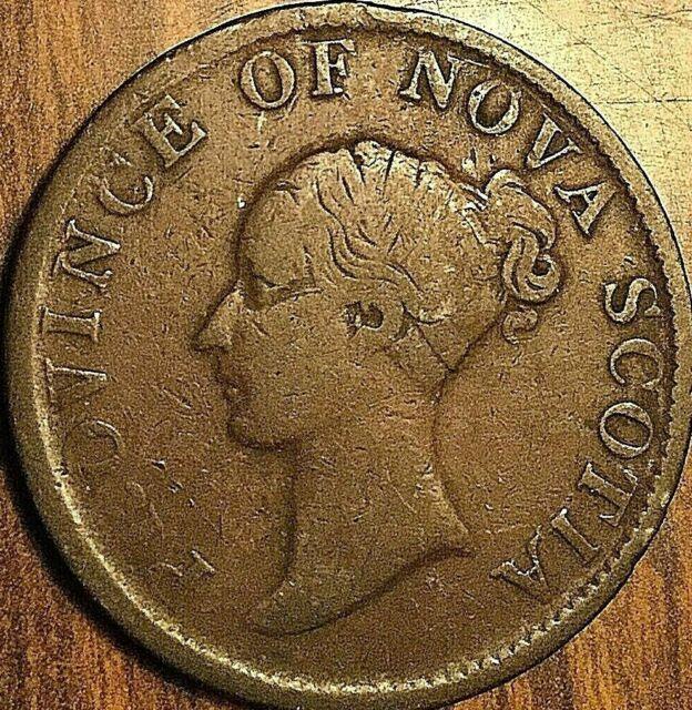 1840 NOVA SCOTIA HALF PENNY TOKEN - Breton 874 - Large 0
