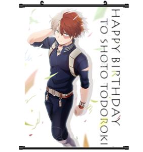 3677 Anime My Boku no Hero Academia Todoroki Shouto Wall Poster Scroll cosplay A