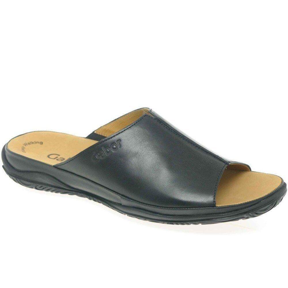 Último gran descuento GABOR Idol cuero corte ancho informal mujer Zapatos Sin Talón