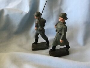 2-VINTAGE-WW2-GERMAN-WEHRMACHT-and-FRENCH-INFANTRYMEN-MARCHING-3-1930s-40s