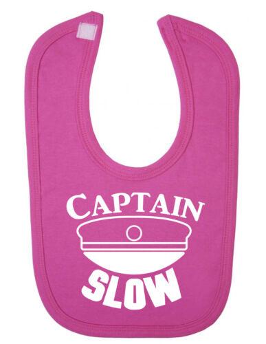El capitán lento divertido recién nacido niño babero
