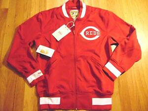 11a598a0543 MITCHELL NESS MLB CINCINNATI REDS TAILORED FIT BP TRACK JACKET SIZE ...