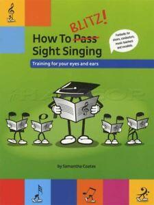 Comment Blitz Vue Chantant Une Formation Pour Les Yeux Et Les Oreilles Voix Musique Vocale Livre-afficher Le Titre D'origine Riche Et Magnifique