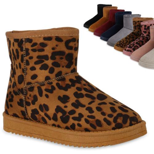 Damen Stiefeletten Schlupfstiefel Warm Gefütterte Winter Boots 825132 Trendy