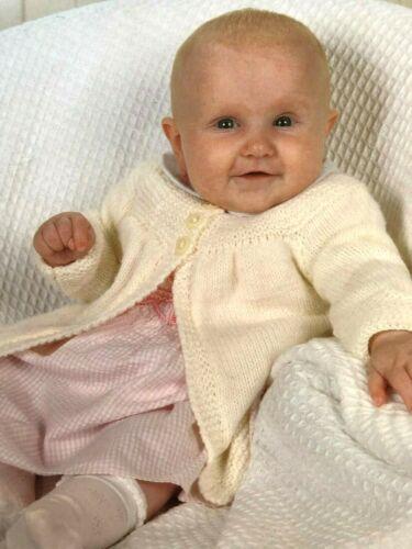"""Prem baby 261 1 an Easy Knit Baby Manteaux Tricot Motif DK 14-20/"""""""