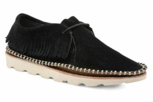 Thrill negro de de caja Clarks Damara 5d zapatos nuevos tamaño gamuza Uk 38 con 56w5AXzq