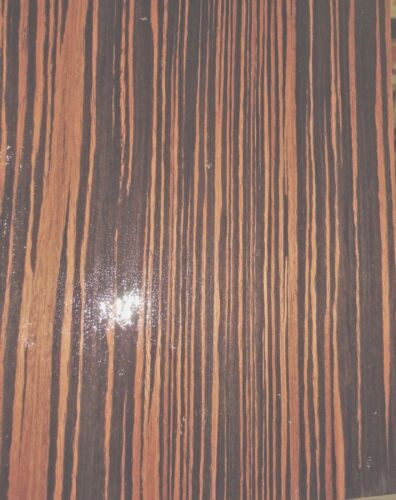 "Ebony Macassar composite wood veneer 8/"" x 10/"" x 1//40/"" thick with paper backer"
