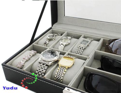 Brillenkoffer Uhrenkoffer Schmuckkoffer Kunstleder W75B