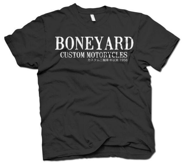 Boneyard Custom Shop T-Shirt Flying Wings retro biker style t-shirt