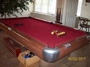 Image Is Loading 1946 9 039 Brunswick Anniversary Pool Table