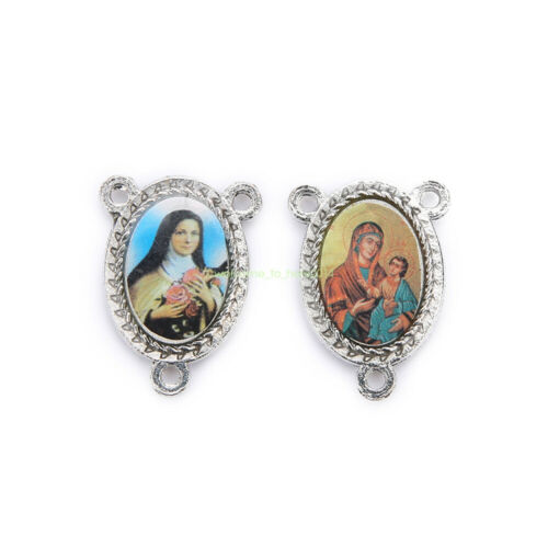 20Pcs High Quality Connexctors Religious Faith Spirituality Enamel Medals Charms