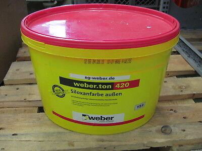 Weiss Weber Fassadenfarbe Siloxanfarbe Außen Kraftvoll 8,60€/1l 15l Weber.ton 420