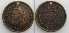 Collectable 1897 Queen Victoria - 60th Year Jubilee Medallion - Holed - Lot 1