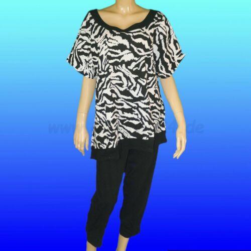 Gr. 46 /& 48 von Auerbacher Moden in schwarz Damen Pyjama Schlafanzug kurz