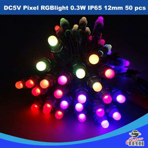 50PCS DC5V WS2811 Pixel Light RGB 0.3W IP65 12mm Christmas//xmas Decoration light