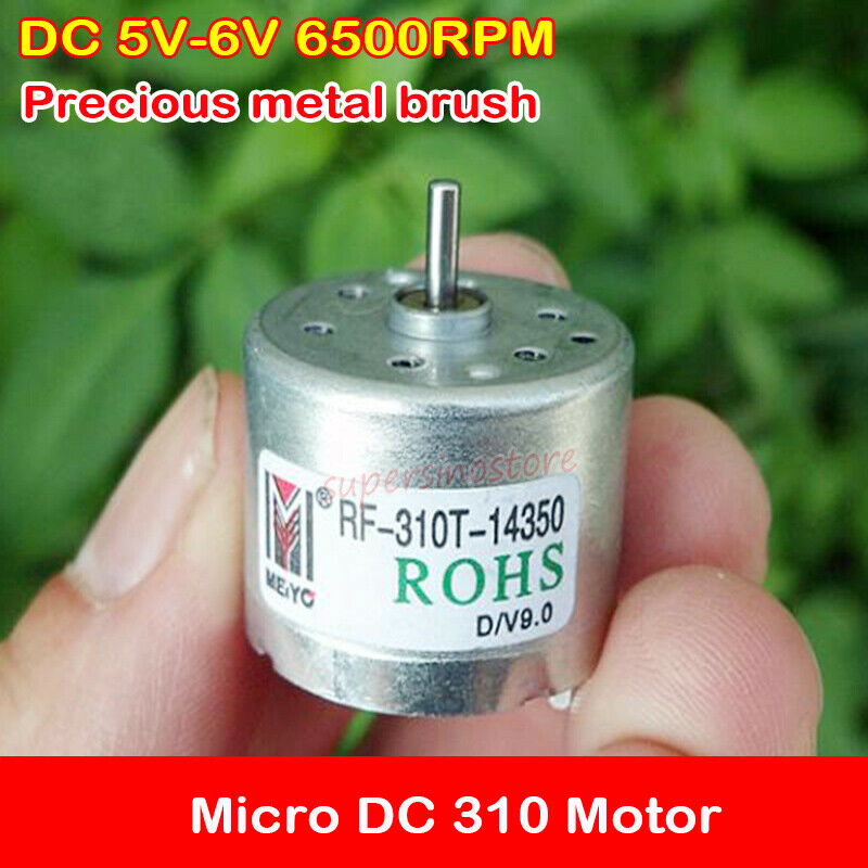 Nidec 300 Motor DC 6V 9V 12V 9V 6500RPM 4mm Shaft DIY Car Boat Solar Experiment