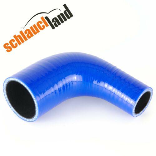 90 ° reduzierbogen ID 70-60mm BLU *** TUBO Silicone Riduzione Tubo Arco