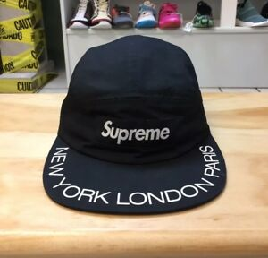 Supreme Visor New York Paris London Print 5-Panel Box Logo Strap ... 2e7886952d88