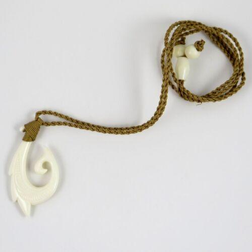 Hawaii Jewelry Whale Tail Fish Hook Buffalo Bone Carved Necklace Choker 35310 Fifasteluce Com