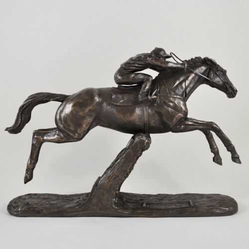 "Figurine By Harriet Glen.New /""ISTABRAQ/"" Race Horse Cold Cast Bronze Sculpture"