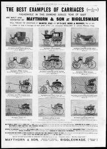 1897-Antique-ADVERTISING-Print-MAYTHORN-Carriage-Builders-Biggleswade-72