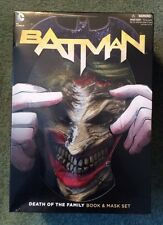 DC Batman: Death of the Family Trade Paperback & Joker Mask Set Mint in Package