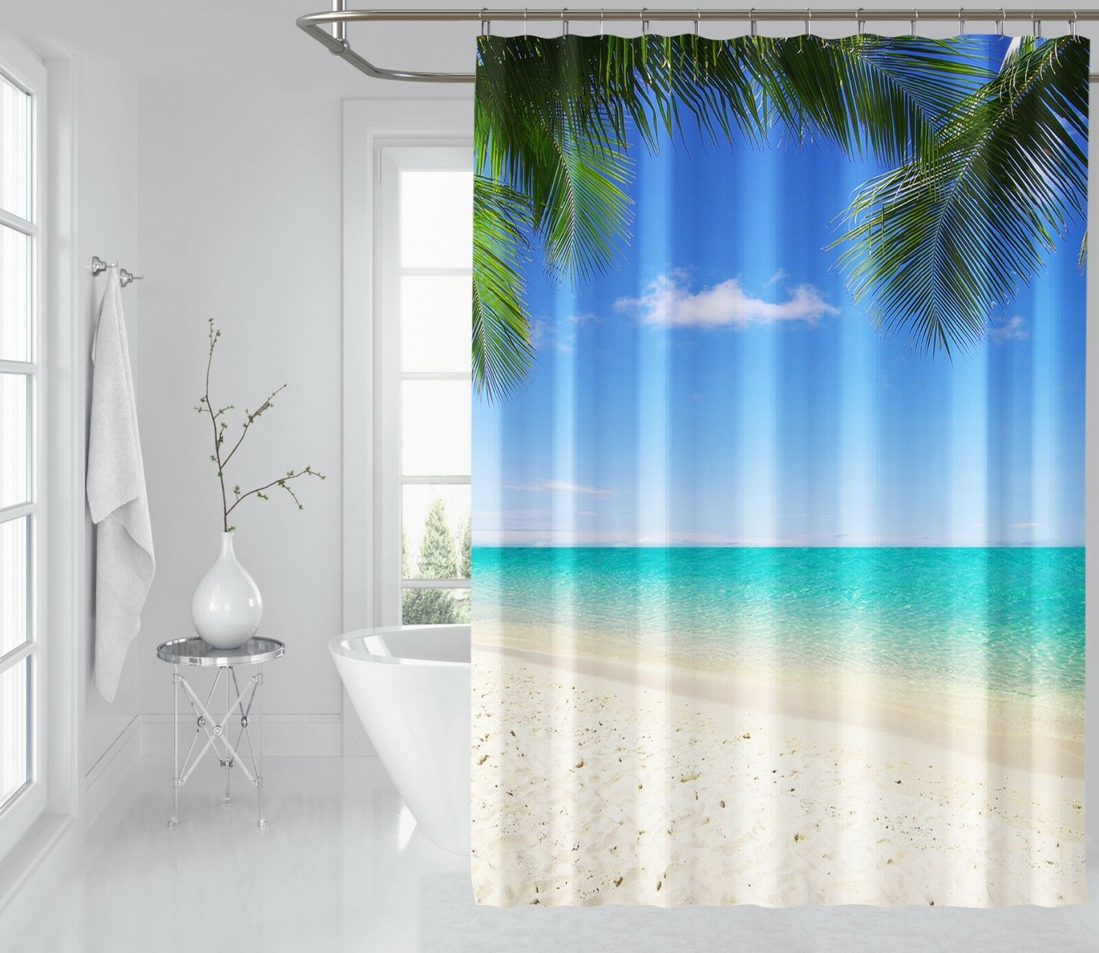 3D Pretty Sea 12 Shower Curtain Waterproof Fiber Bathroom Home Windows Toilet 9a8c04