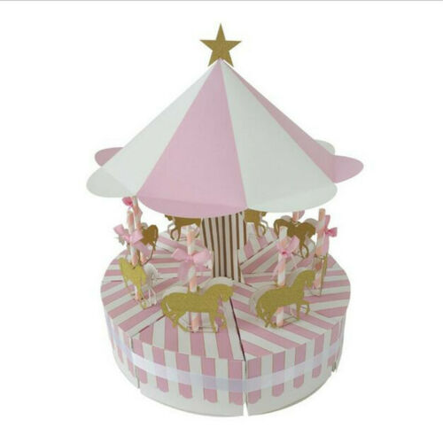 1Set Carrousel Bonbons Gâteau Candy Box Enfants Fête D/'anniversaire Mariage Faveurs boîte cadeau #