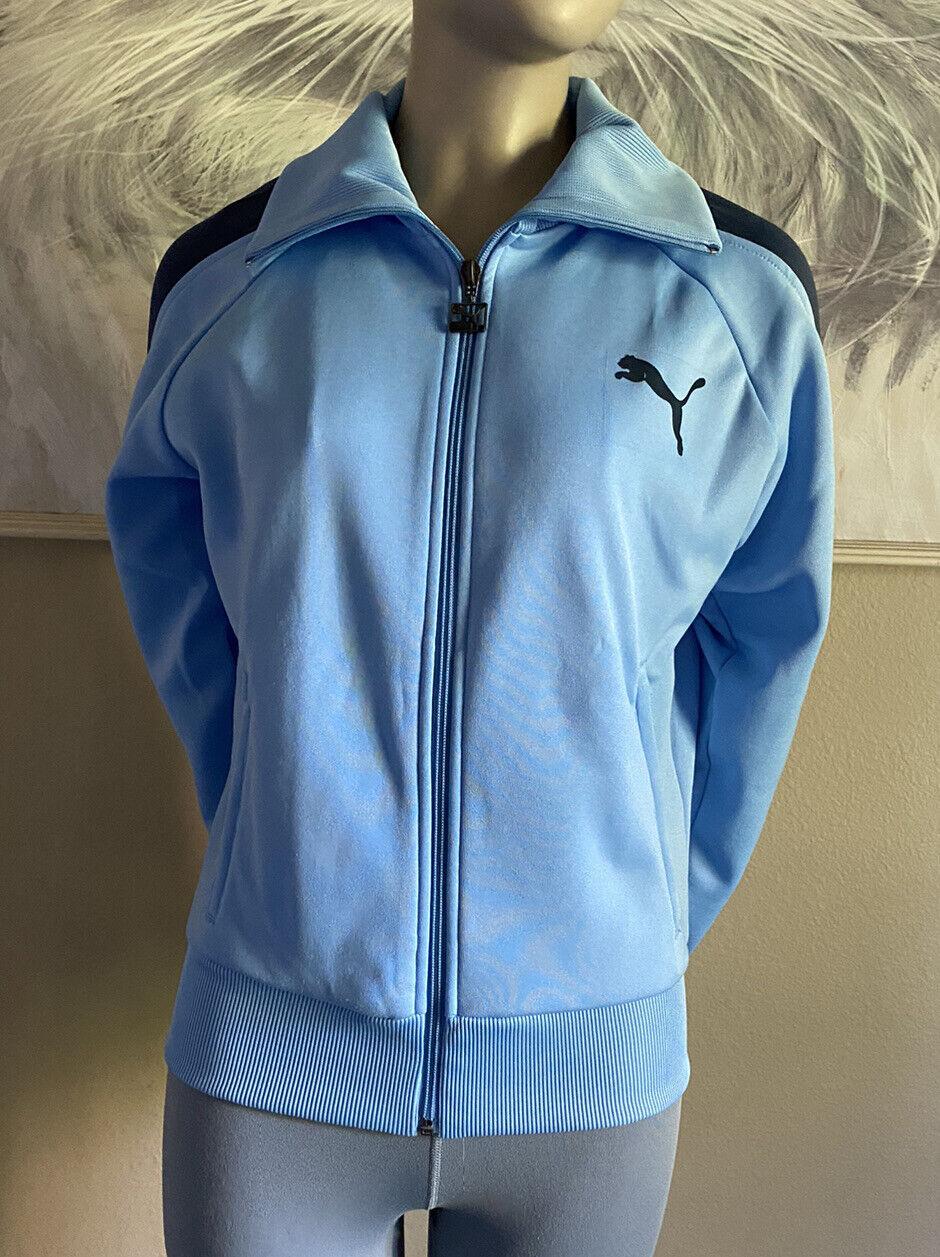 Puma size Women's /Junior's Blue Fleece Athletic Zip-up Jacket