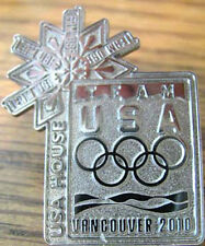 Vancouver 2010 rare USA HOUSE Olympic NOC Team COMMITTEE pin