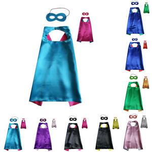 Children-Kids-Superhero-Fancy-Dress-Costume-Cape-Mask-Super-Hero-Party-Halloween