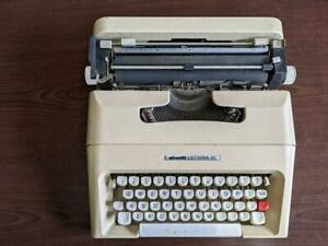 Olivetti Lettera 35 Portable Typewriter Used Antique Free Shipping Fedex