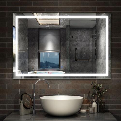 Countertop LED Mirror,Touch Sensor Switch,Anti Fog Demister,Vertical Horizontal
