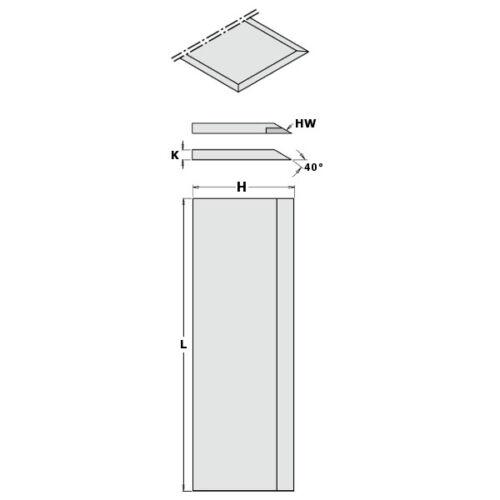 CMT Coltello singolo in HS per pialla per teste portacoltelli Cod.792.231.30