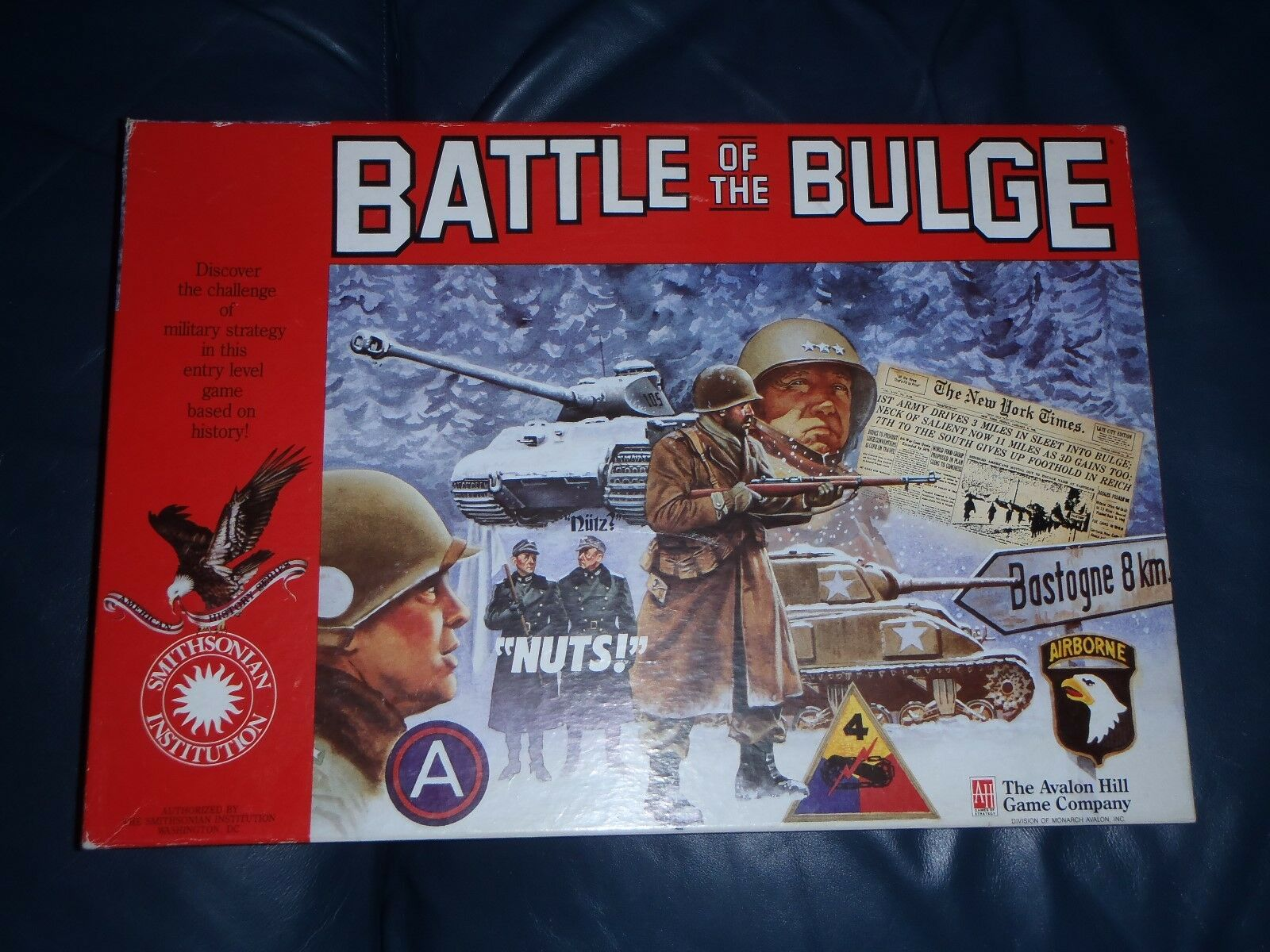 Avalon Hill BATTLE OF THE BULGE Board Game