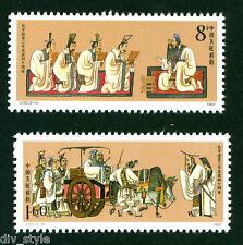China Confucius set of 2 stamps 1989 mnh J-162