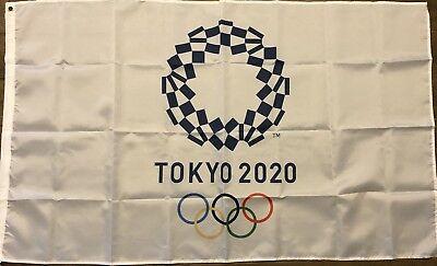 2020 Tokoyo Olympic Games Summer Logo Flag 3x5 Olympics Swimming Gymnastics