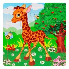 Wooden Kids 16Piece Jigsaw Toys For Children Education And Learning Puzzles Toys