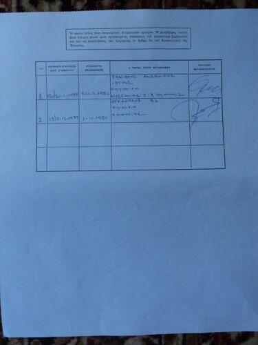Title 50 Shares Bond Stock Certificate 1979 PEDIATRIC CENTER OF ATHENS Greece