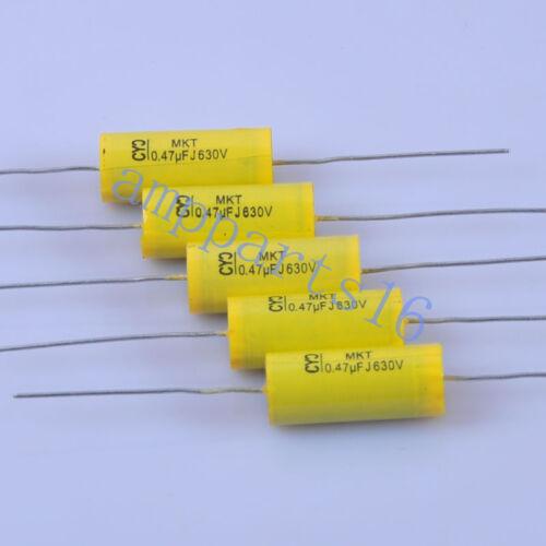 10pcs MKT Polypropylene Film Capacitor Axial 0.47uf 474 630V Radio Tubular