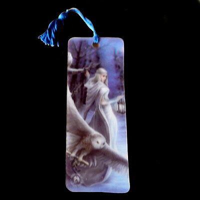 *MIDNIGHT MESSENGER* Goth Fantasy Art 3D Bookmark By Anne Stokes (15.5x5.5cm)