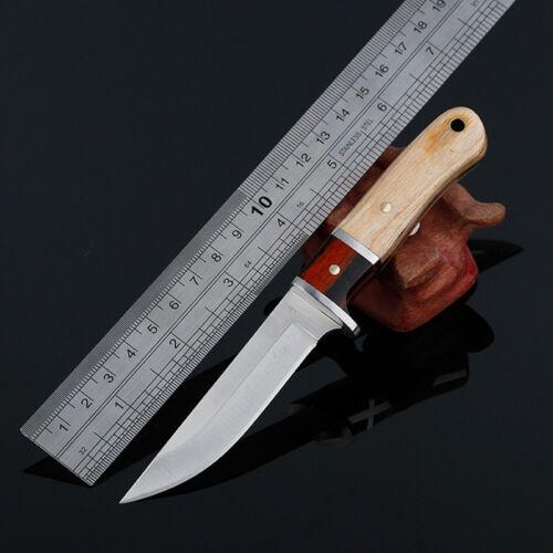 Couteau de chasse-Lame-Damascus-Knife-Outdoor-acier forgé-survie-chasse-15