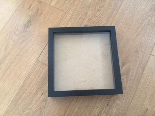 noir en bois photo // cadre Photo nouveau 9 x 9 pouces Carré boîte d'ombre